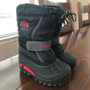 Sorel Black Toggle Winter Boots 6 Toddler
